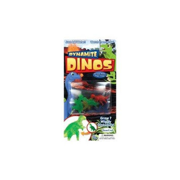 Dunecraft Pack of 7 Multi Colored Growing Dynamite Dinos Multi-Colored