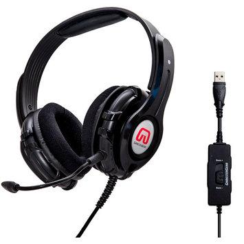 Syba OG-AUD63090 GamesterGear Cruiser PC210-I USB Gaming Headset - Stereo - Black - USB - Wired - 32 Ohm - 20 Hz - 20 kHz - Over-the-head - Binaural - Circumaur