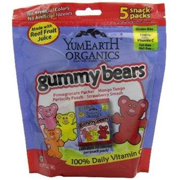 Yummy Earth Gummy Bears Snack Packs - 5 Snack Packs