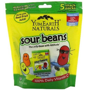 Yummy Earth YumEarth Naturals Sourbeans 5 Snack Packs