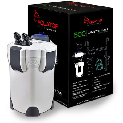 Aquatop Canister Filter with UV - Up to 175 gal.