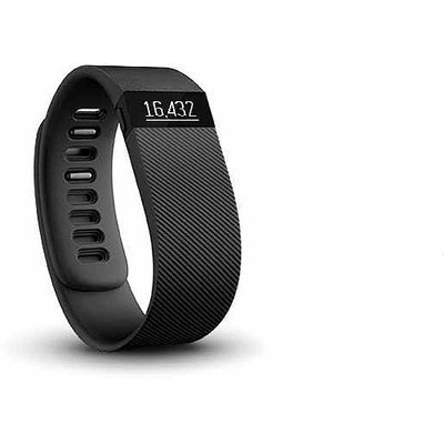Fitbit - Charge Wireless Activity Tracker + Sleep Wristband (large) - Black