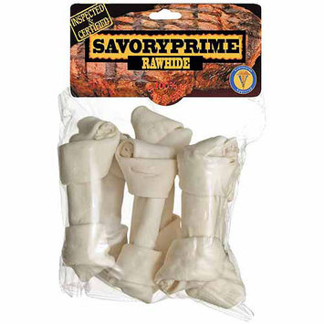 Savory Prime 6 Count Medium White Knotted Rawhide Bone Value