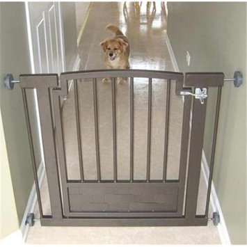 Petsstop Royal Weave Hallway Dog Gate - Black