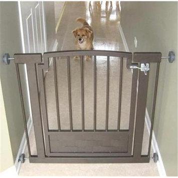 Petsstop Royal Weave Hallway Dog Gate - Mocha