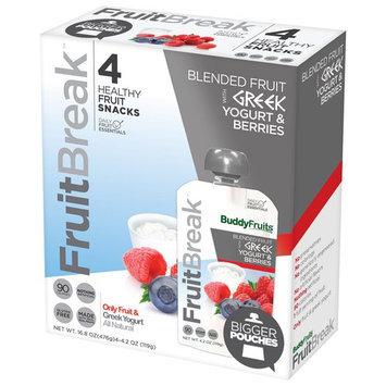 Buddy Fruits FruitBreak Greek Yogurt & Berries Blended Fruit, 4.2 oz, 4 count