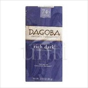 Dagoba Organic Chocolate Bar Rich Dark Dark Chocolate 2.83-Ounce Bars, Pack of 12