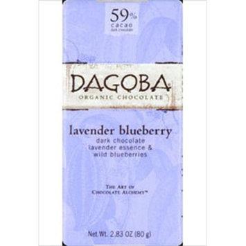 Dagoba Organic Chocolate - Bar Dark Chocolate Lavender Blueberry 59 Cacao - 2.83 oz.