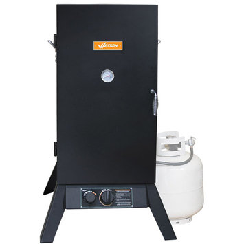 Prago 410701W 30 Inch Vertical Propane Smoker