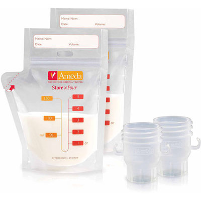 Ameda Store N Pour Breast Milk Storage Bags Getting Started Kit - 20 Count