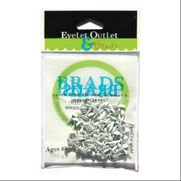 Eyelet Outlet 4mm Round Brads 70/Pkg-White