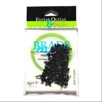Eyelet Outlet 4mm Round Brads 70/Pkg-Black