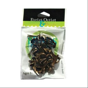 Eyelet Outlet 8mm Brads-Brushed Brass