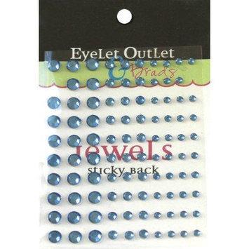 Eyelet Outlet EOB4-BLU Bling Self-Adhesive Jewels Multi-Size 100-Pkg-Blue