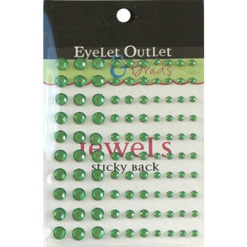 Eyelet Outlet EOB4-GRN Bling Self-Adhesive Jewels Multi-Size 100-Pkg-Green