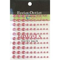 Eyelet Outlet EOB4-PNK Bling Self-Adhesive Jewels Multi-Size 100-Pkg-Pink