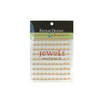 Eyelet Outlet EOB5-BRN Bling Self-Adhesive Pearls 5mm 100-Pkg-Brown