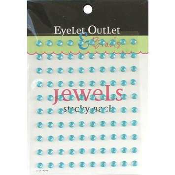 Eyelet Outlet EOB6-TUR Bling Self-Adhesive Jewels 5mm 100-Pkg-Turquoise