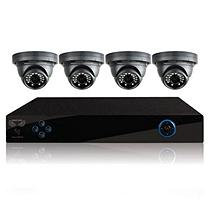 Night Owl 4 Channel Security System with 500GB Hard Drive, 4 700TVL Dome Cameras, and 75' Night Vision