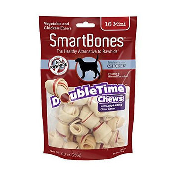 Petmatrix Llc SmartBones DoubleTime Dog Chew Bones Chicken Mini