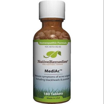 Native Remedies MDA001 MediAc to Temporarily Treat Symptoms of Acne Vulgaris - 125 Tablets