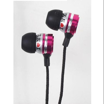Shirts-n-more I Love Ny EB301P Eb301 Metal Stereo Earbuds - Pink