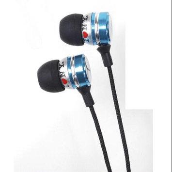 Shirts-n-more I Love Ny EB301B Eb301 Metal Stereo Earbuds - Blue