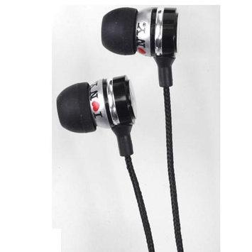 Shirts-n-more I Love Ny EB301K Eb301 Metal Stereo Earbuds - Black