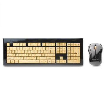 Impecca Bamboo Wireless Custom Carved Keyboard & Mouse Combo