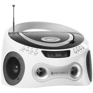Riptunes CD Boombox Player- White
