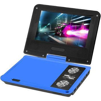 Impecca DVP775B 7 Inch Swivel Portable Dvd Player Blue
