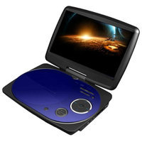 Impecca DVP916B 9 Inch Swivel Portable Dvd Player Blue