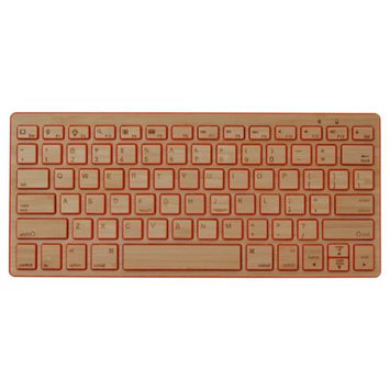 Impecca Bamboo Bluetooth Keyboard, Orange