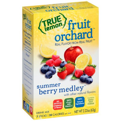 True Lemon Fruit Orchard Summer Berry Medley Drink Mix, 7 count, 2.22 oz
