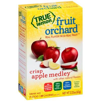 True Lemon Fruit Orchard Crisp Apple Medley Drink Mix, 7 count, 2.22 oz