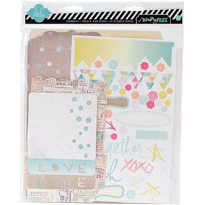 Heidi Swapp Dreamy Memory Files Kit-Fotostack Booklet, 4 Files & Stickers
