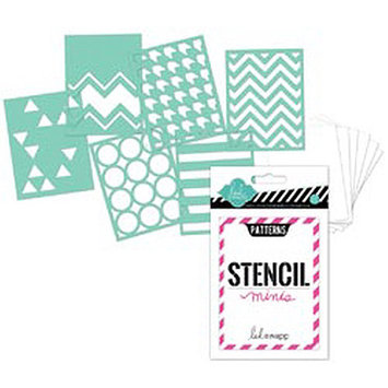 Heidi Swapp 3inX4in Mini Stencil Kit-Patterns