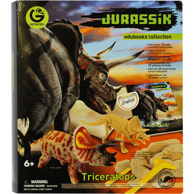Geo World Jurassic Edubooks Triceratops