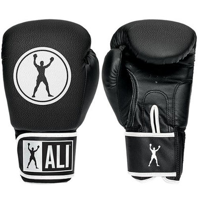 Ali Synthetic Leather Boxing Gloves - 10 oz. - Black