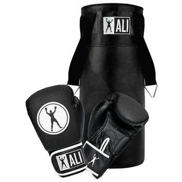 Ali Junior Boxing Gloves and Heavy Bag Training Combo Kit