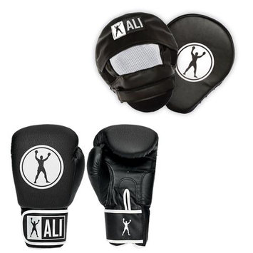 Ali Boxing Gloves and Punch Mitt Training Combo Kit - Youth - Black