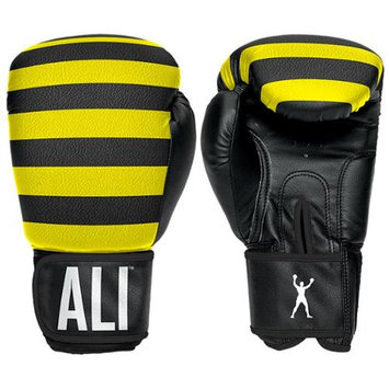 Ali Sting Like a Bee Synthetic Leather Boxing Gloves - 12 oz. - Yellow/Black