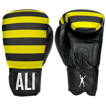 Ali Sting Like a Bee Synthetic Leather Boxing Gloves - 14 oz. - Yellow/Black