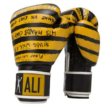 Ali Trash Talk Synthetic Leather Boxing Gloves - 12 oz. - Yellow/Black