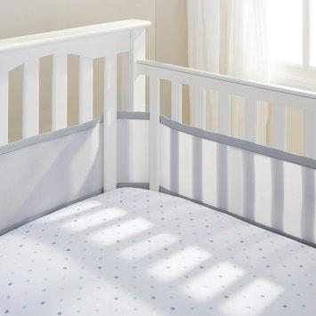 Breathable Baby Mesh Crib Liner Color: Aqua Mist