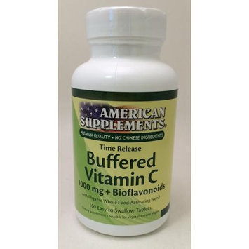 American Supplements Buffered Vitamin C 1000 mg Bioflavonoids No Chinese Ingredients Time Release Ame