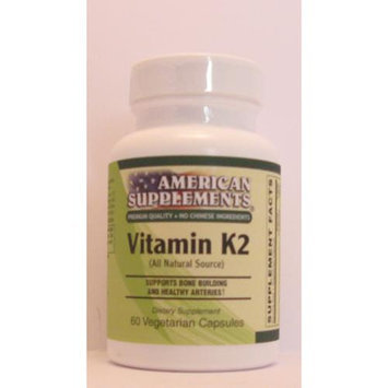 Vitamin K2 45 MCG No Chinese Ingredients American Supplements 60 VCaps