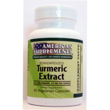 Turmeric Extract 500 MG No Chinese Ingredients American Supplements 60 VCaps