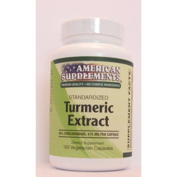 Turmeric Extract 500 MG No Chinese Ingredients American Supplements 120 VCaps