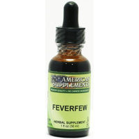 Feverfew No Chinese Ingredients American Supplements 1 oz Liquid